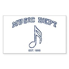Music Dept Rectangle Sticker