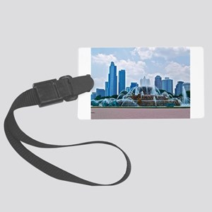 Fountain in Grant Park Chicago Large Luggage Tag