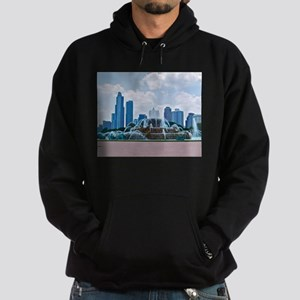 Fountain in Grant Park Chicago Hoodie (dark)