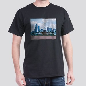 Fountain in Grant Park Chicago Dark T-Shirt