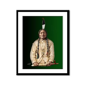Sitting Bull Framed Panel Print