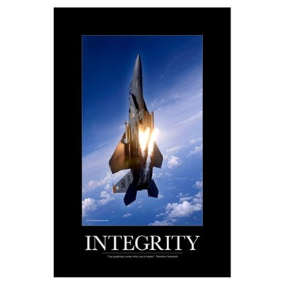 Military Motivational Poster: Integrity Poster