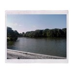 Spring Lake, NJ Devine Park Throw Blanket