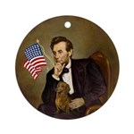 Lincoln's little Red Dachshund Ornament (Round)