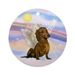 Clouds - Dachshund Angel (br-red) Ornament (Round)
