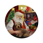 Santa & his Wire Haired Dachshund Ornament (Ro