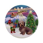 Take Off - Wire Haired Dachshund Ornament (Round)