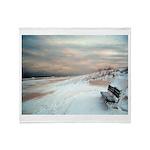 New Jersey Beach Throw Blanket