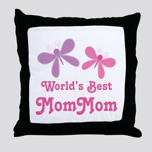 Best MomMom Butterfly Throw Pillow