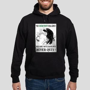 The Green Beret Challenge: Never Quit! Hoodie (dar
