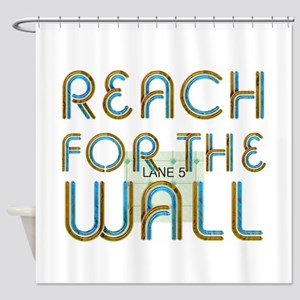 Swim Slogan Shower Curtain