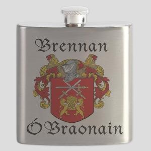 Brennan in Irish/English Flask