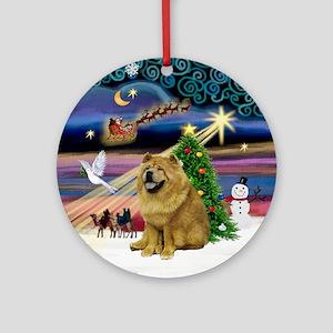 XmasMagic-ChowChow (ms) Ornament (Round)