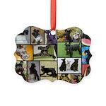 Black Schnauzer Collage Picture Ornament
