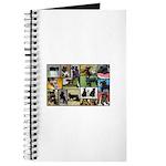 Black Schnauzer Collage Journal