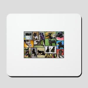 Black Schnauzer Collage Mousepad