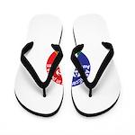 Autism symbol Flip Flops