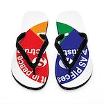Autistic Spectrum symbol Flip Flops