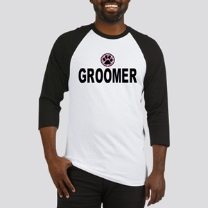 Groomer Pink Stripes Baseball Jersey
