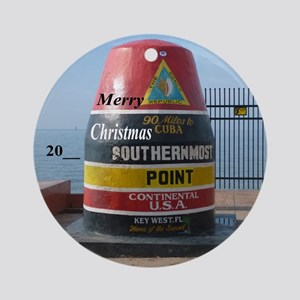 Southernmost Point Round Ornament