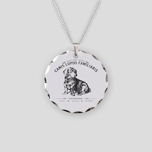 Vintage Dachshund Necklace Circle Charm