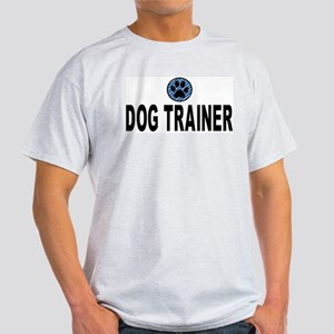Dog Trainer Blue Stripes Ash Grey T-Shirt