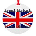 GreatBritain Round Ornament