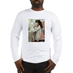 Little Girl With Her Doll Long Sleeve T-Shirt
