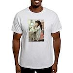 Little Girl With Her Doll Light T-Shirt