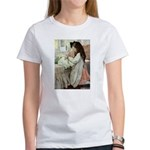 Little Girl With Her Doll Women's T-Shirt