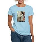 Little Girl With Her Doll Women's Light T-Shirt
