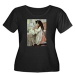 Little Girl With Her Doll Women's Plus Size Scoop