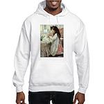Little Girl With Her Doll Hooded Sweatshirt