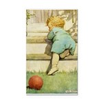 Toddler With A Ball Rectangle Car Magnet