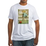 Toddler With A Ball Fitted T-Shirt