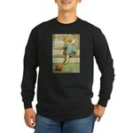 Toddler With A Ball Long Sleeve Dark T-Shirt
