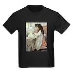 Little Girl With Her Doll Kids Dark T-Shirt