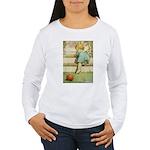Toddler With A Ball Women's Long Sleeve T-Shirt