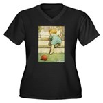 Toddler With A Ball Women's Plus Size V-Neck Dark
