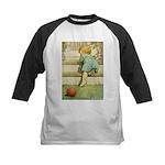 Toddler With A Ball Kids Baseball Jersey