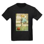 Toddler With A Ball Kids Dark T-Shirt