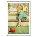 Toddler With A Ball Banner