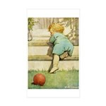 Toddler With A Ball Sticker (Rectangle 50 pk)