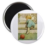 Toddler With A Ball Magnet