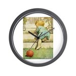 Toddler With A Ball Wall Clock