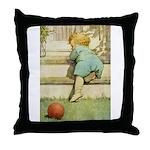 Toddler With A Ball Throw Pillow