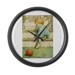 Toddler With A Ball Large Wall Clock