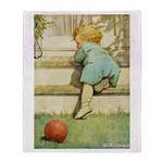 Toddler With A Ball Throw Blanket