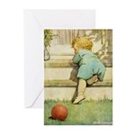 Toddler With A Ball Greeting Cards (Pk of 10)