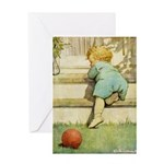 Toddler With A Ball Greeting Card